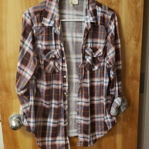 Woman flannel top